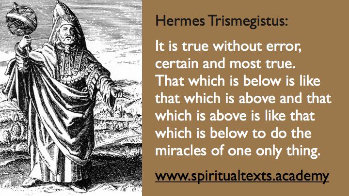 Tabula Smaragdina Hermes Trismegistus