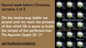 Second week before Christmas The Aquarian Gospel