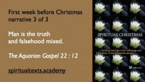 Spiritual Christmas The Aquarian Gospel 22